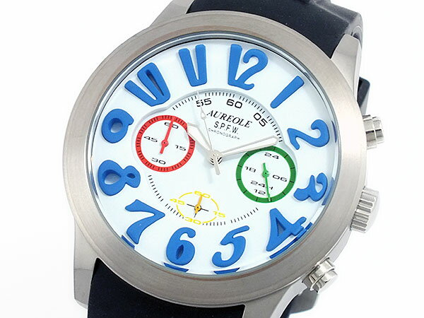 オレオール AUREOLE クロノグラフ 腕時計 時計 SW-577M-3【楽ギフ_包装】【ポイント10倍】