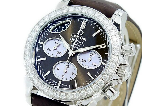 オメガ OMEGA デビル 自動巻 レディース クロノ 腕時計 42218355013001【楽ギフ_包装】【送料無料】【ポイント10倍】