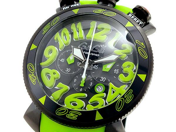 ガガミラノ GAGA MILANO クオーツ メンズ クロノ 腕時計 60542GRNRUBBER【楽ギフ_包装】【送料無料】【ポイント10倍】