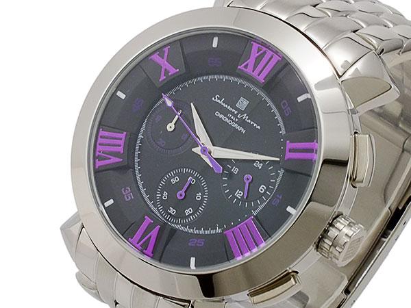 サルバトーレマーラ クオーツ メンズ クロノグラフ 腕時計 時計 SM14107-SSBKPL【楽ギフ_包装】【ポイント10倍】