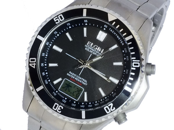 エルジン ELGIN ソーラー 電波 メンズ チタン 腕時計 時計 FK1396TI-BP【楽ギフ_包装】【ポイント10倍】