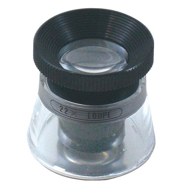 【MIZAR-TEC 】ミザールテック 高倍率ルーペ 倍率22倍 レンズ径15mm 0.1mm目盛り付き 日本製 RCS-22 /10点入り(代引き不可)【ポイント10倍】