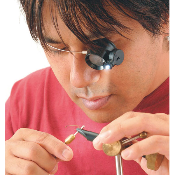 【TSK】検査用ルーペ 倍率5倍 レンズ径22mm LEDライト付 ワイヤーバンド 日本製 EY-5L /40点入り(代引き不可)【ポイント10倍】
