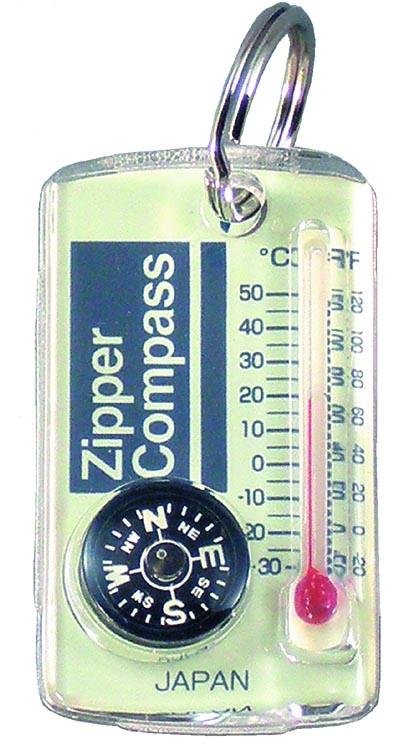【MIZAR-TEC】ミザールテック ジッパーコンパス 温度計付 クリア 日本製 NO15A /40点入り(代引き不可)【ポイント10倍】