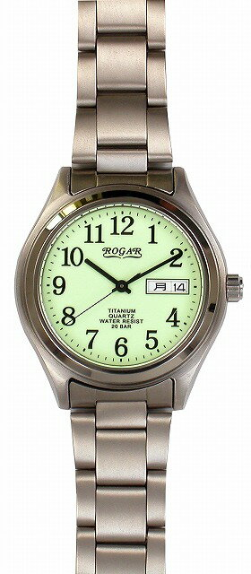 【ROGAR】ローガル メンズ腕時計 RO-040M-RS 銀製品 20気圧防水(日本製) /10点入り(代引き不可)【ポイント10倍】