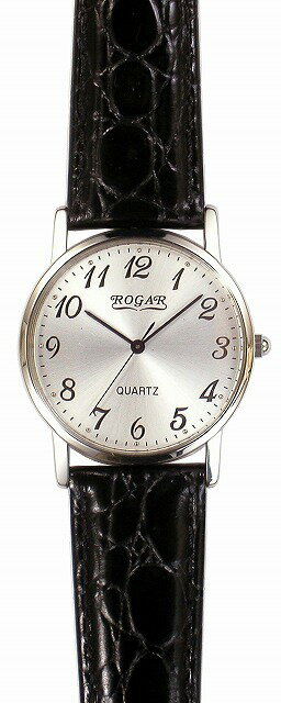 【ROGAR】ローガル メンズ腕時計 RO-060MB-01 日常生活用防水(日本製) /10点入り(代引き不可)【ポイント10倍】