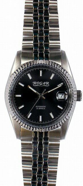 【ROGAR】ローガル メンズ腕時計 RO-061M-BB 10気圧防水(日本製) /10点入り(代引き不可)【ポイント10倍】