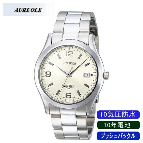 【AUREOLE】オレオール メンズ腕時計 SW-409M-4 アナログ表示 日常生活用防水 10年電池 10気圧防水 /10点入り(代引き不可)【ポイント10倍】
