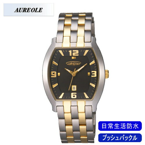 【AUREOLE】オレオール メンズ腕時計 SW-465M-1 アナログ表示 日常生活用防水 /10点入り(代引き不可)【ポイント10倍】