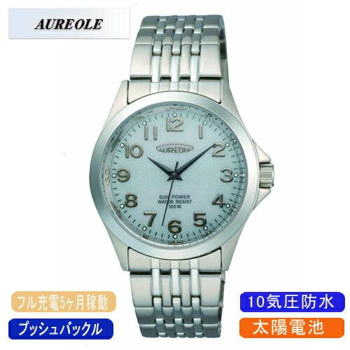 【AUREOLE】オレオール メンズ腕時計 SW-482M-6 アナログ表示 ソーラー 10気圧防水 /10点入り(代引き不可)【ポイント10倍】