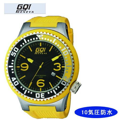 【GQI GENEVA】 ジェネバ メンズ腕時計 GQ-109 アナログ表示 10気圧防水 /10点入り(代引き不可)【ポイント10倍】