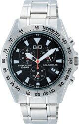 【CITIZEN】シチズン Q&Q ソーラー電源搭載 クロノグラフ メンズ腕時計H022-202 /10点入り(代引き不可)【ポイント10倍】