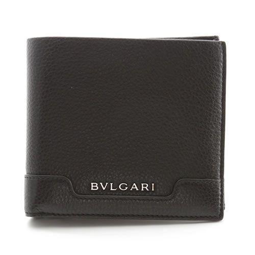 ブルガリ URBAN アーバン 小銭入れ付 二つ折り財布 カーフ ブラック 33403 GRAIN/BLK【送料無料】【ポイント10倍】
