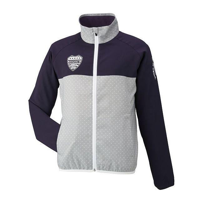 【予約注文】 GOSEN(ゴーセン) レディースライトウィンドジャケット UY1501 【カラー】ライトグレー 【サイズ】S【ポイント10倍】