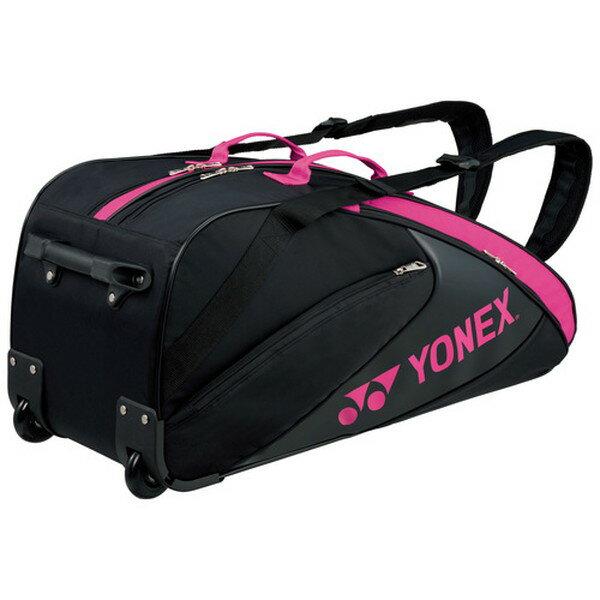 Yonex(ヨネックス) TEAM SERIES ラケットバッグ(キャスター付き・テニスラケット6本用) BAG1732C 【カラー】ブラック×ピンク【ポイント10倍】【送料無料】【smtb-f】