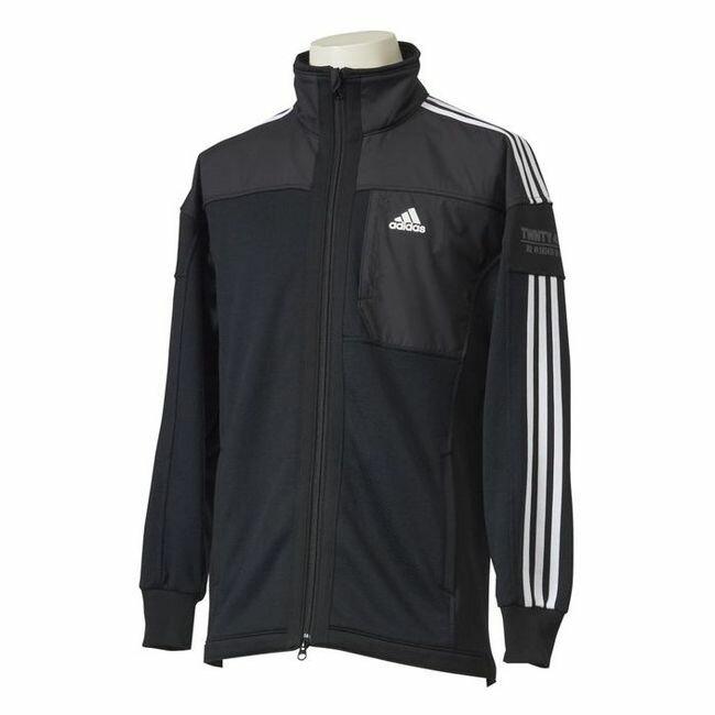adidas(アディダス) M adidas 24/7 ハイブリッドウォームアップ ジャージジャケット ECF36 【カラー】ブラック 【サイズ】J/O【ポイント10倍】