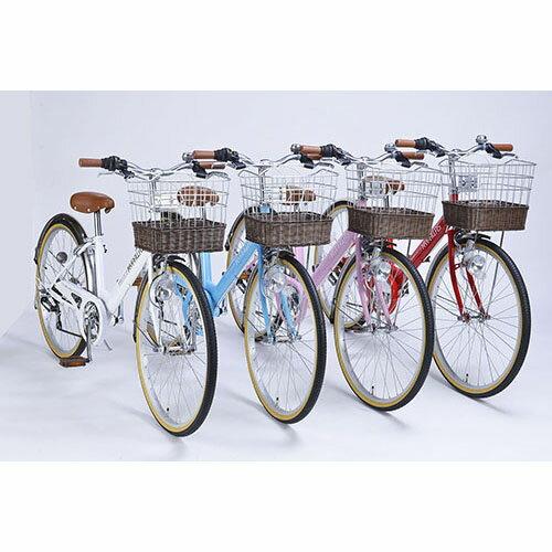 マイパラス MYPALLAS 女の子自転車 24インチ M-811 4色 (6段ギア カゴ付 ライト付)(代引不可)【送料無料】