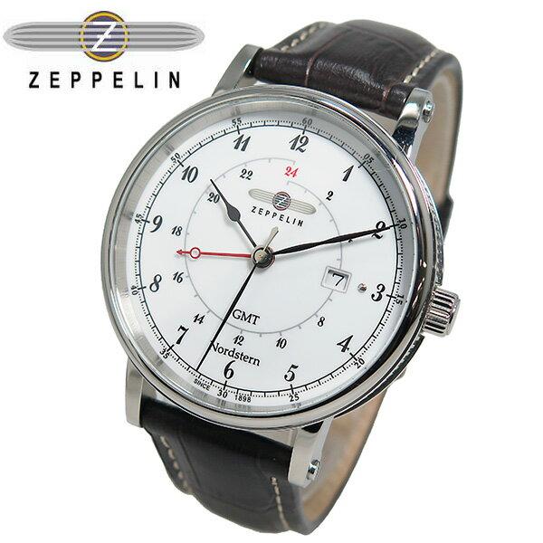 ツェッペリン ZEPPELIN ノルドスタン GMT クオーツ メンズ 腕時計 7546-1【送料無料】【楽ギフ_包装】