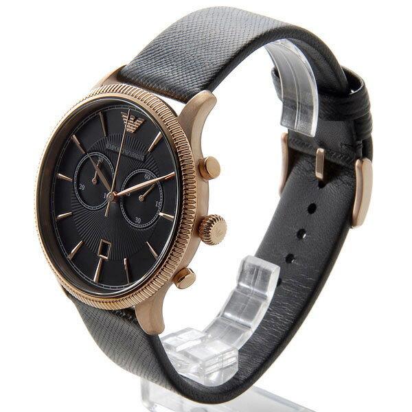 エンポリオ アルマーニ クラシック クオーツ クロノ 腕時計 ER1792 ブラック【送料無料】【楽ギフ_包装】
