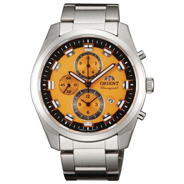 オリエント ORIENT クオーツ メンズ クロノ 腕時計 WV0511TT オレンジ 国内正規【楽ギフ_包装】