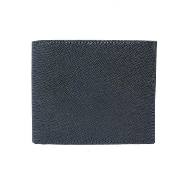海外有名ブランド シルバノ ビアジーニ 二つ折り短財布 メンズ 7848016 グレー/ブルー【送料無料】【楽ギフ_包装】