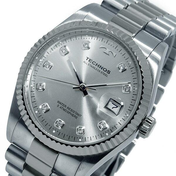 テクノス TECHNOS クオーツ メンズ 腕時計 T9402SS シルバー【送料無料】【楽ギフ_包装】
