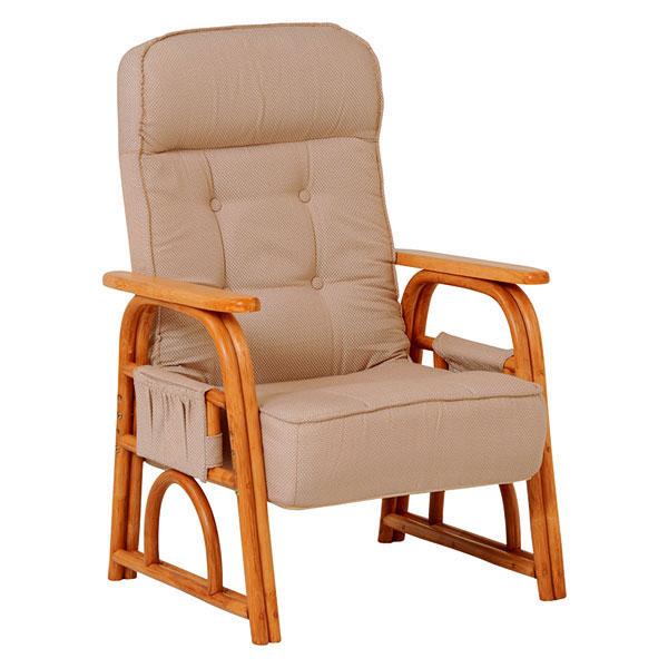 萩原 ギア付き座椅子(ナチュラル) RZ-1255NA 4934257239523 【代引き不可】【送料無料】