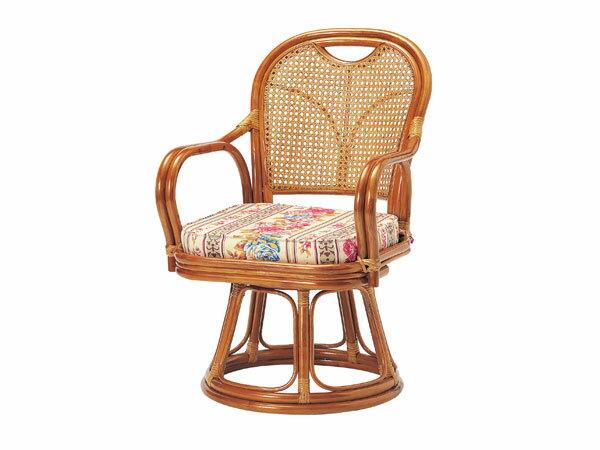 ラタン回転椅子 ミドルタイプ SH390 R-390S【送料無料】