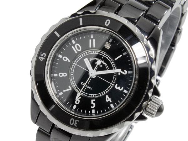 ピエールタラモン PIERRETALAMON クオーツ レディース 腕時計 時計 PT-1600L-BK【楽ギフ_包装】