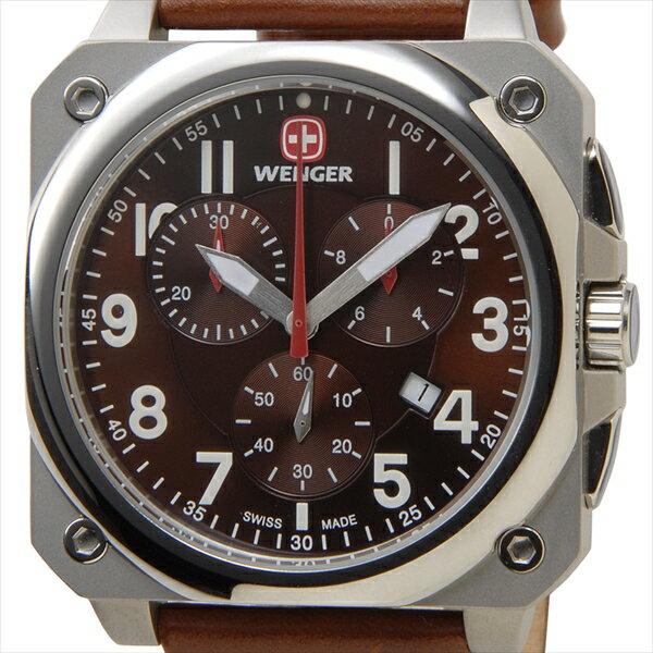 WENGER ウェンガー 腕時計 WEN77014 メンズ エアログラフコクピット クロノ ブラウン【送料無料】
