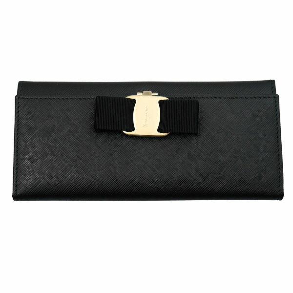 Salvatore Ferragamo サルヴァトーレフェラガモ 長財布 22-B559-588260 NERO ブラック 財布(代引不可)【送料無料】