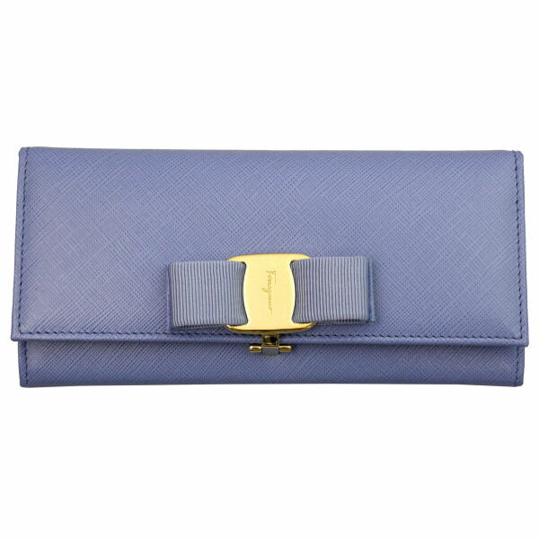 Salvatore Ferragamo サルヴァトーレフェラガモ 長財布 22-B559-600241 FLEURBLEUE ライトブルー 財布(代引不可)【送料無料】