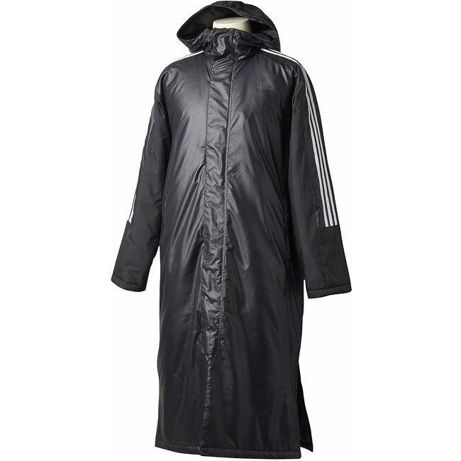 adidas(アディダス) メンズ 3ストライプ ロングパデッドコート DUW96 【カラー】ブラック 【サイズ】J/M