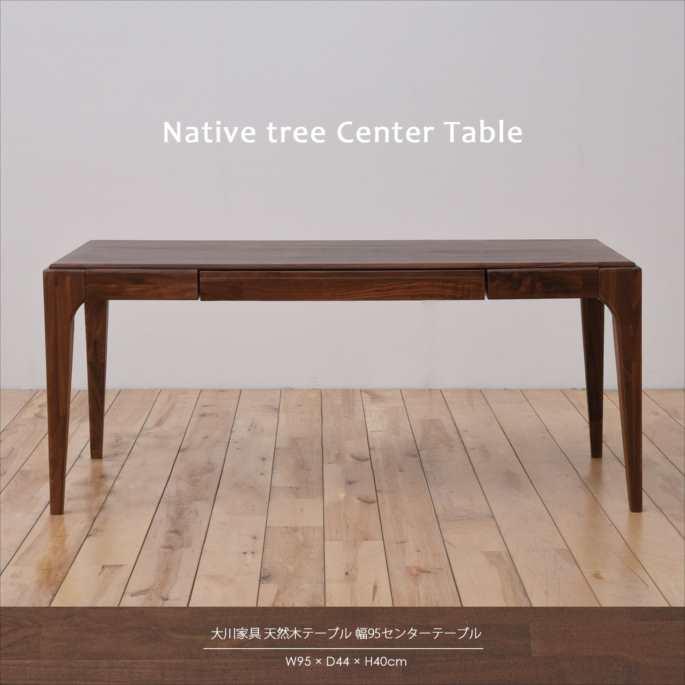 大川家具 天然木テーブル 幅95センターテーブル SNJ-11000004(代引不可)【送料無料】【table0901】