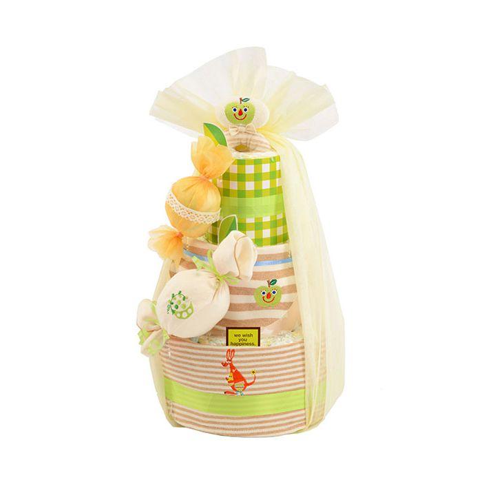 Diaper Cake ダイパーケーキ オーガニックキャンディー青りんご GFDC025【送料無料】【smtb-f】