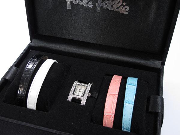 Folli Follieフォリフォリ 腕時計 替えベルト4本付き WF5T082【楽ギフ_包装】【送料無料】