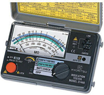 KYORITSU 2レンジ小型絶縁抵抗計【MODEL3145A】(計測機器・電気測定器)
