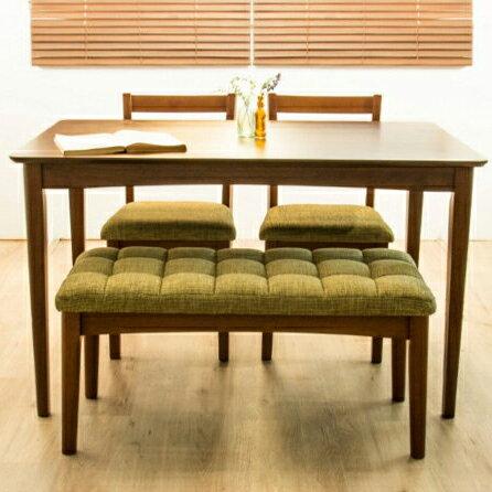 ダイニングテーブル 4点セット ダイニングセット 幅120cm ダイニングチェア2脚+ベンチチェア ダイニング 木目 食卓用(代引不可)【送料無料】