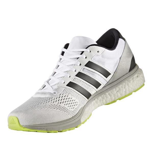 adidas(アディダス) ランニングシューズ BA8228 ランニングホワイト×コアブラック×ソーラーイエロー 27cm