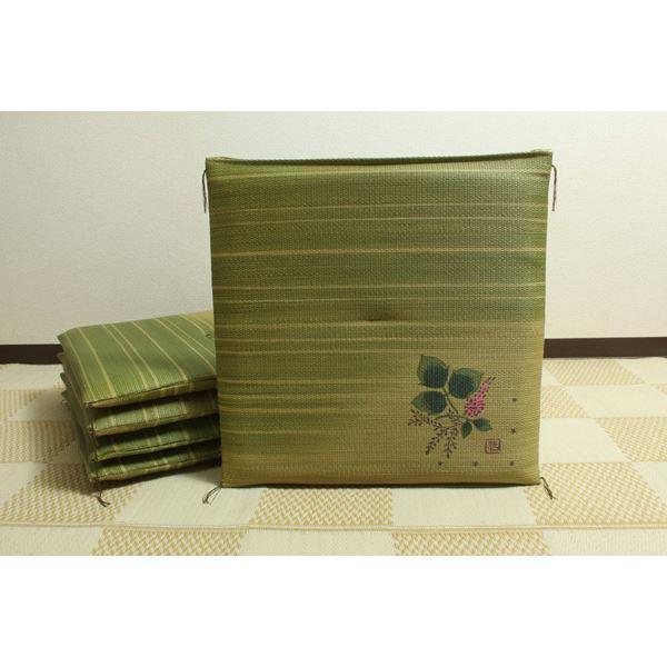 純国産 捺染返し い草座布団 『葛(くず) 5枚組』 約55×55cm×5P