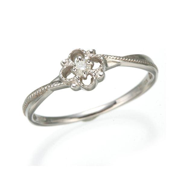K10 ホワイトゴールド ダイヤモンドスプリングリング 184282 21号
