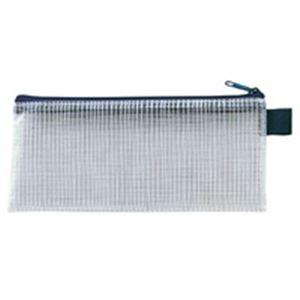 (業務用100セット) セキセイ メッシュケース AZ-136E PEN ブルー ×100セット