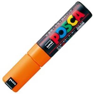 (業務用200セット) 三菱鉛筆 ポスカ PC-8K.4 太字 橙 ×200セット