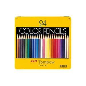 (業務用30セット) トンボ鉛筆 色鉛筆 CB-NQ24C 24色 缶入 ×30セット