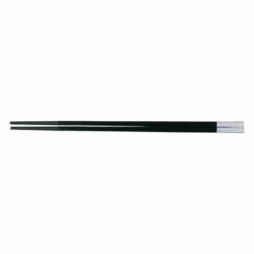 福井クラフト PBT和洋中角箸 シルバー(10膳入) 黒 85915560 TTY3602