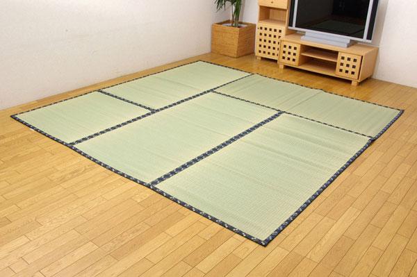 純国産 糸引織 い草上敷 『日本の暮らし』 本間4.5畳(約286×286cm)【送料無料】【代引き不可】