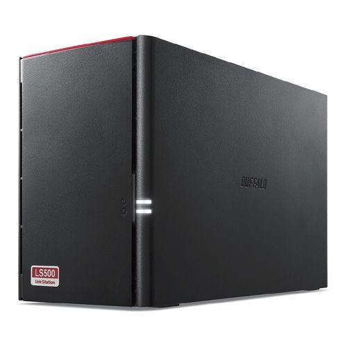 バッファロー LinkStation for SOHO LS520DNBシリーズ NAS用HDD搭載 2ドライブNAS 3年保証 2TB LS520DN0202B(代引き不可)