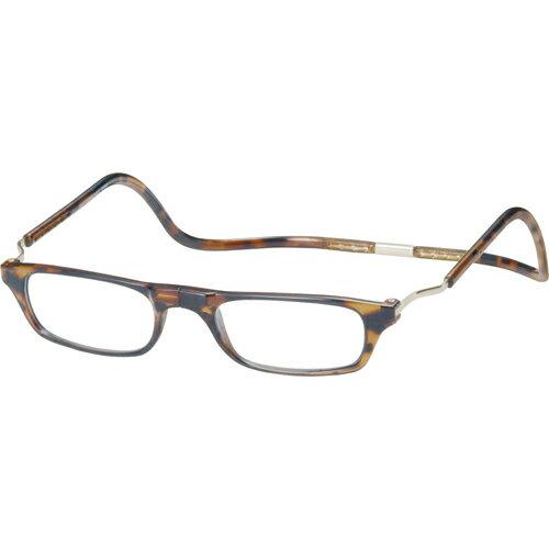 老眼鏡クリック(clic) エクスパンダブルXLD ライトデミ +3.0 オーケー光学