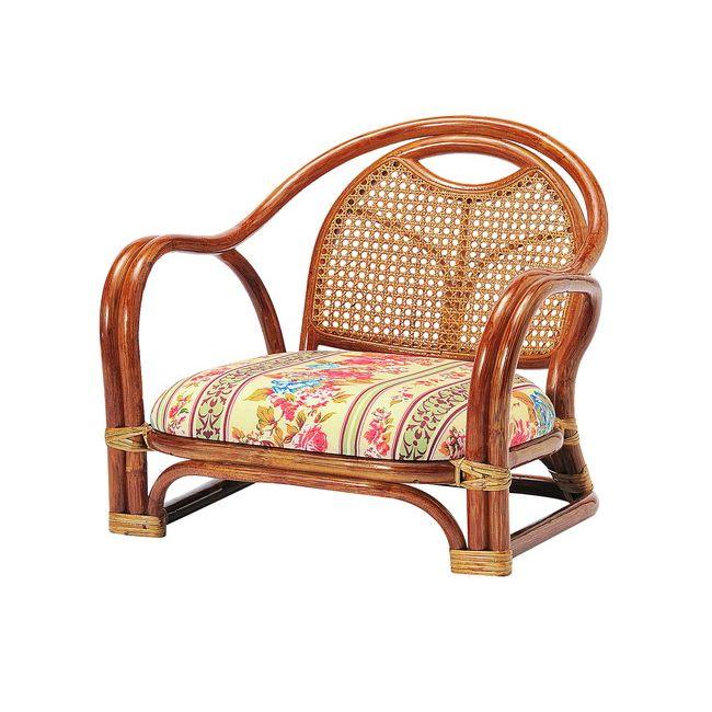 ラタンアームチエア ロータイプ SH200 R-A200 ロータイプ 高座椅子 座椅子 座いす フロアチェア 椅子 いす 籐 リビング(代引不可)【送料無料】【smtb-f】