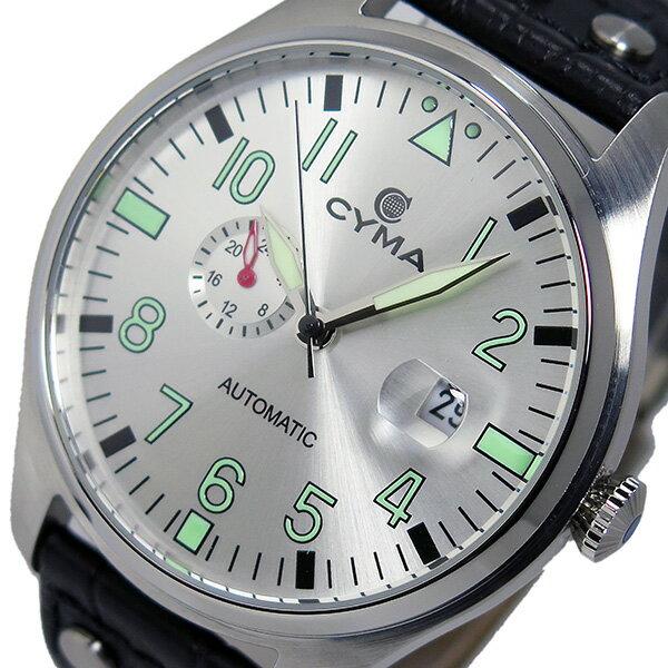 シーマ CYMA 自動巻き メンズ 腕時計 時計 CS-1001-SV シルバー/ブラック【楽ギフ_包装】